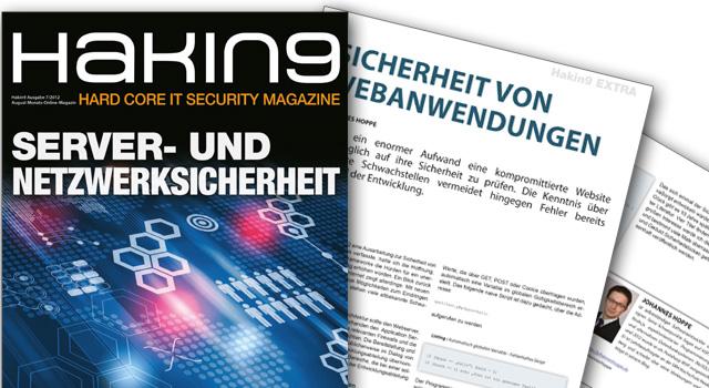 Fachartikel bei der Hakin9 – Sicherheit von Webanwendung