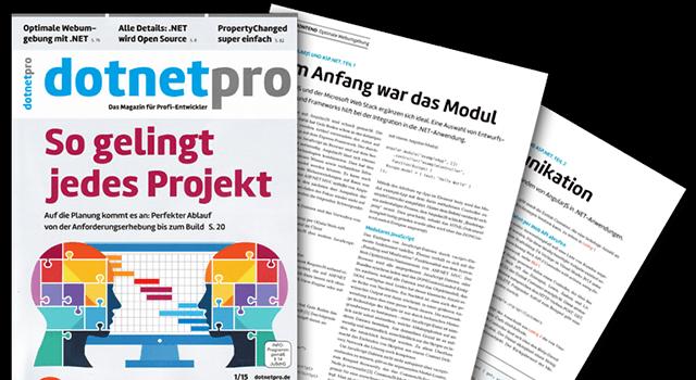 Fachartikelreihe bei der dotnetpro – AngularJS und ASP.NET